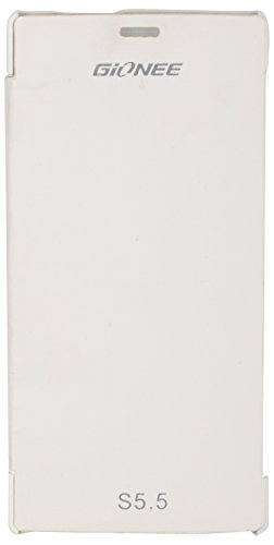 iCandy™ Synthetic Leather Flip Cover for Gionee Elife S5.5 - White