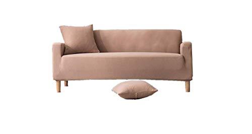 WLVG Conjuntos de sofá, fuerte elasticidad funda de sofá, 1/2/3/4 cubierta protectora de asiento, impermeable, a prueba de aceite, anti-incrustación, anti-arañazos de gato (Khaki, 1 plaza)