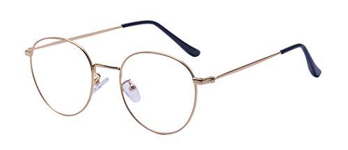 ALWAYSUV Runde Rahmen Vollrand Klare Lens Brille Light Gewicht Brillenfassung