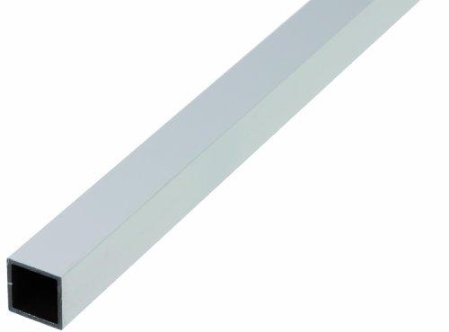 GAH-Alberts 473549 Vierkantrohr - Aluminium, silberfarbig eloxiert, 1000 x 25 x 25 mm