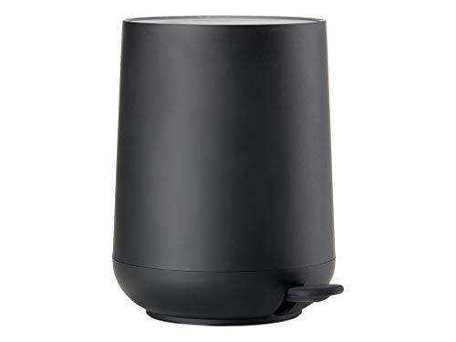 Zone Denmark Nova Mülleimer/Abfalleimer, Kosmetikeimer fürs Bad, 5 Liter, schwarz