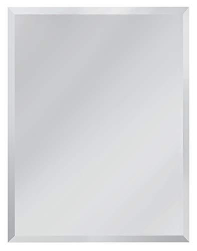 Red Co. Espejo rectangular minimalista moderno para mesa y pared, sin marco con borde biselado, grande, 25,4 x 33,0 cm
