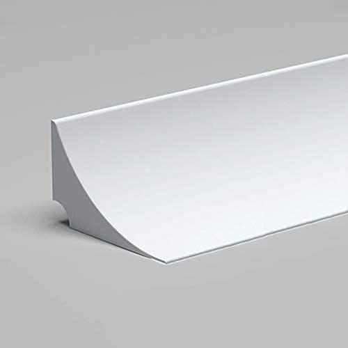 umbral de ducha,Barrera de ducha,Tira de retención de agua de silicona para encimera de cocina,Tira impermeable para el lateral de la estufa,Barrera de agua para encimera de lavabo de baño,White,300cm