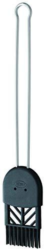 RÖSLE Backpinsel Silikon, Hochwertiger Pinsel zum Einfetten und Glasieren, Silikon, große Speicherkapazität, -70°C bis +220°C, Spülmaschinengeeignet, 4,5 cm