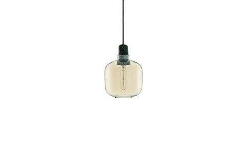 Normann Copenhagen Lampada Amp a sospensione, oro/verde, piccola, design di Simon Legald, lampada a sospensione da soggiorno