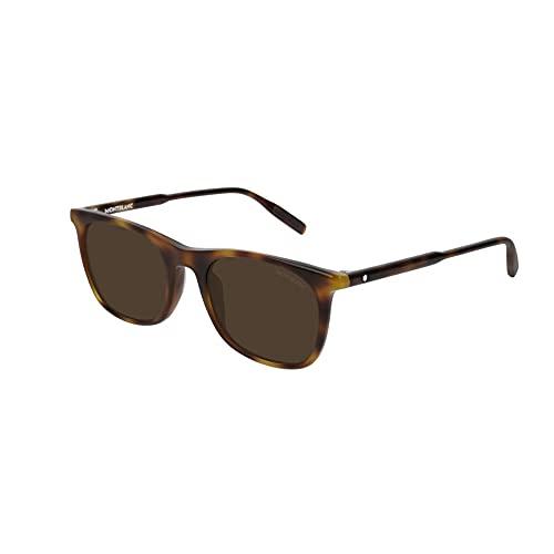 Montblanc MB0007S HAVANA-HAVANA-BROWN (002) - Gafas de sol