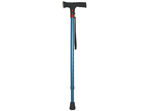 GIMA 43055 wandelstok met veiligheidslicht, dames, blauw