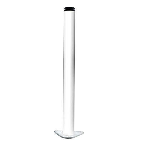 ZXL Aluminium steiger hoek tafel poten, meubels steigers inclusief schroef plaat zwart, wit 12/15cm