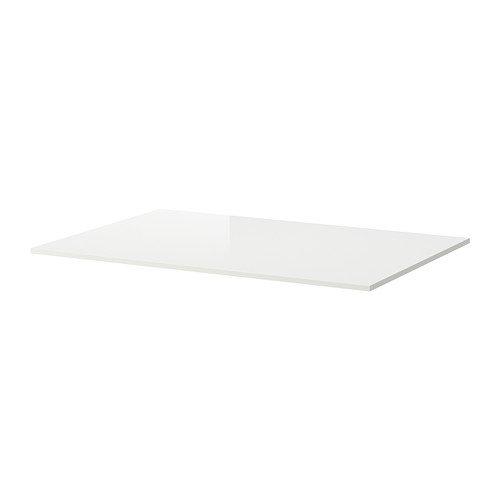 Ikea TORSBY - Mesa Superior, Alto Brillo Blanco - 135x85 cm