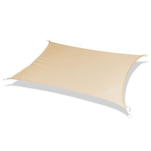 ZXD Sonnensegel, Sonnensegel Wasserdicht, Sonnensegel Rechteckig 98% UV-Block Mit Freiem Seil Mehrere Größen Und Farben Für Außenanlagen Und Aktivitäten (Color : Light Yellow, Size : 6x9m)
