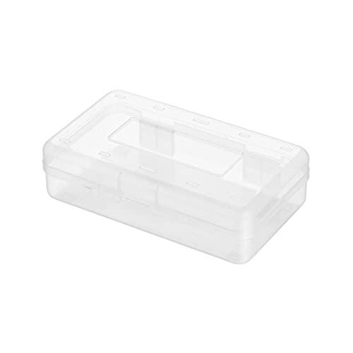 floatofly Caja de papelería transparente de gran capacidad apilable diseño antisucio niño lápiz caja para escuela dibujo herramienta de almacenamiento transparente
