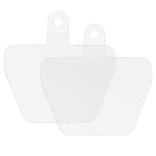 takyu 2er Set Ersatz Zubehör, Selbstklebende Einlagen Polyester Material Dünn, Leicht und Reißfest (Transparent)