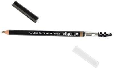 BENECOS Eyebrow Designer Blonde - Brosse et crayon à sourcils -Pour dessiner et discipliner les sourcils - Parfait pour corriger leur forme naturelle - Certifié BDIH - 100% vegan