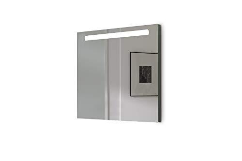 Espejo baño con Luz SHINE 80x70cm 6 W Led 864Lumenes, 6 w 5700kluz brillante, potente y moderna, perfecto para el baño. [Clase de eficiencia energética A++]. IP44. baño iluminado.