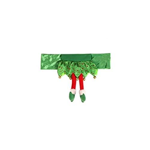 DUO ER Santa muñeco de Nieve patrón Silla Faja Cubrir la decoración navideña Conjuntos de la Tapa de Navidad Conjuntos de la Mesa de la Mesa de la Mesa de la Mesa hacia atrás for el hogar