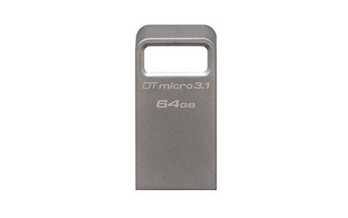 Kingston DataTraveler Micro 3.1 DTMC3 64GB Drive USB 3.1, Ultra-Compatto e Leggero, Metallo