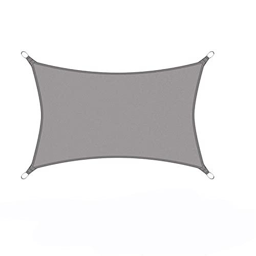 PPCERY Gris Impermeable Poliéster Oxford Tela Shade Sail Pergola Cubierta Cubierta Rectángulo (Color : 3mx6m, Size : Grey)