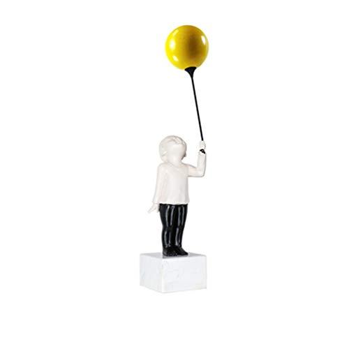 zlw-shop Home decoration ornaments Nordic Modern Model Room Creative Sculpture Cute Child Balloon Object Living Room TV Cabinet Accessories Desktop Ornaments (Color : B)
