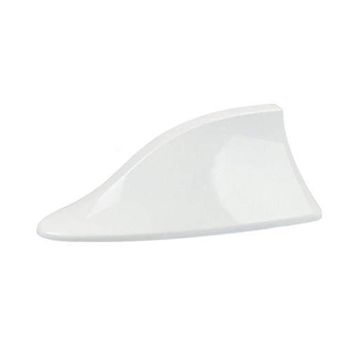 GOZAR ABS Tetto in Plastica Stile Pinna Antenna Segnale Radio Antenne Universial per La Maggior Parte delle Auto-Bianco