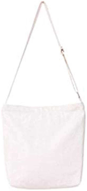 Bloomerang Women Beach Canvas Bag Fashion Solid color Handbags Ladies Large Shoulder Bag Totes Casual Bolsa Shopping Bags color White