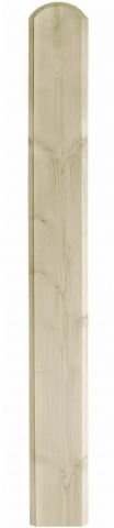 Zaunlatten für Holzzaun/Balkonbrett für Holzbalkon (5 Stück) - Fichte - 4089/5 (18x950x120mm)
