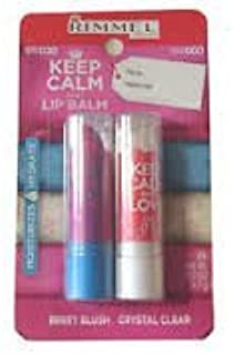 Rimmel Keep Calm and Rock Berry Blush & Keep Calm and Love Crystal Clear Lip Balm Set (2)