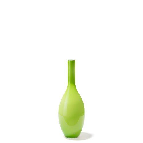 Leonardo Beauty Blumen-Vase, handgefertigte Deko-Vase, bauchige Tisch-Vase in Grün, Höhe: 390 mm, 058712
