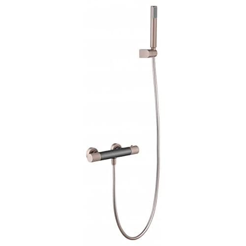 Grifo de ducha termostático gris mate y champagne Line Imex BTD038-5GC