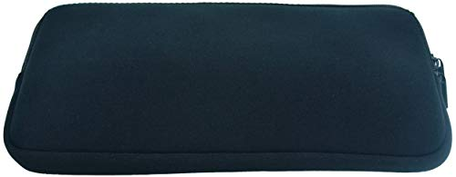 Tastatur-Hülse - Case Wonder Neopren Tastatur Bewegliches Schutztragetasche Abdeckung Taschen-Haut für Apple Drahtlose Bluetooth Tastatur MC184D/B MC184D/A / Apple Magic Tastatur MLA22D/A / Magic Trackpad 2 / Logitech Bluetooth Illuminated Keyboard K810 / Logitech K380 Bluetooth-Tastatur und fast 12-Zoll-drahtloser Tastatur- (Schwarzer Zip)
