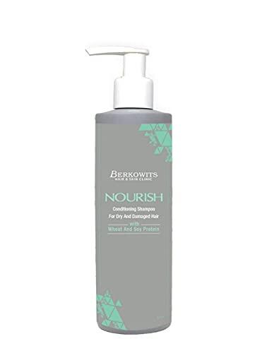 Glamorous Hub Berkowits Hair & Skin Clinics Champú acondicionador nutritivo para cabello seco y dañado con proteína de trigo y soja, 220 Ml
