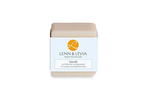 Levia Salzseife mit Pfefferminz u. Zedernholzöl 100g