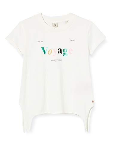 Scotch & Soda R´Belle Mädchen Wickel T-Shirt, Weiß (Off White 0001), 164 (Herstellergröße: 14)