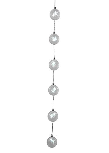 Hi-Line Gift Ltd Hologram Star Ornament String, White