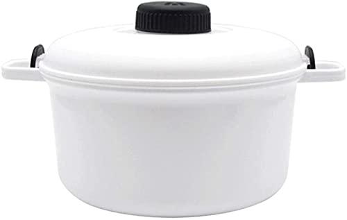 Mikrovågsugn Steamed Rice Cooker Large 2.8L Compact Easy Cook Micro Kitchen Master med mätkopp Spatel Receptbok - Hälsosam och snabb sätt att laga god mat (färg: röd)