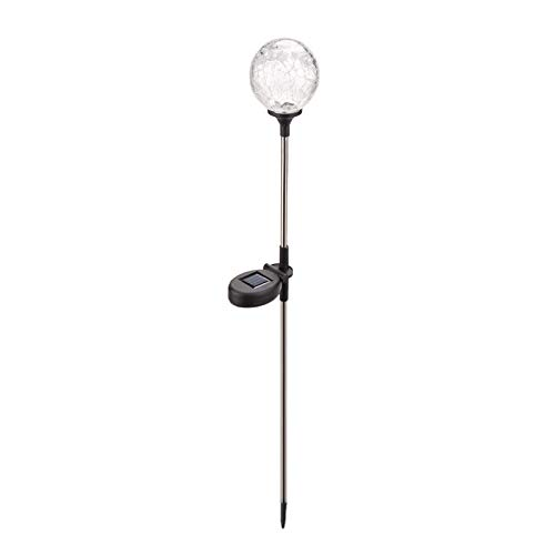 Not application Bola de vidrio agrietada lámpara solar colorido Crack césped luz LED impermeable prado lámpara para jardín patio al aire libre