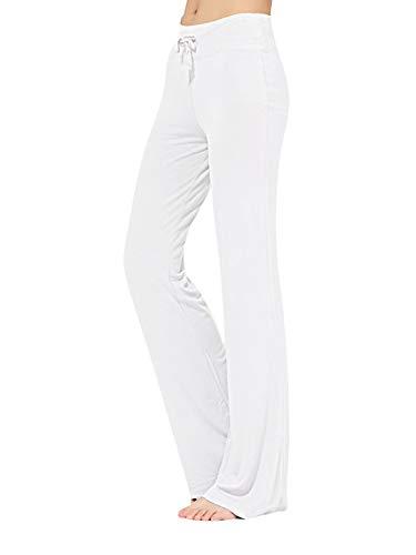 Pantalones de yoga para mujer, pantalones de pierna ancha, para fitness, deportes, para mujer, acampanados, pantalones deportivos activos, con cordón, pantalones deportivos