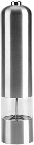ZCCL Molinillo de Sal y Pimienta eléctrico, Molinillo de Pimienta y Molinillo de Sal a batería, agitador de Especias de Acero Inoxidable con Molinillo Ajustable