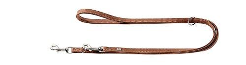 HONTER PORTO verstelbare geleider voor honden met olijfblad gelooid premium leer, milieuvriendelijk en duurzaam, 20/200, cognac