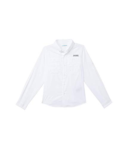 Columbia Youth Boys Tamiami Long Sleeve Shirt, White, Small