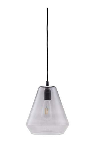 House Doctor lamp, hood, grijs, E27, Max 25 W, 3 m kabel, handgemaakt glas, h: 32 cm, diameter: 22,5 cm