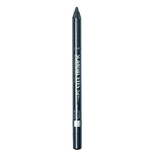 Rimmel London Matita Occhi Waterproof ScandalEyes - Kohl Kajal Nero - 002 Sparkling Black- 7,1 g
