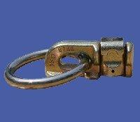 10 Stück Double-Stud-Fitting mit Ring (Zurröse Flugöse) für Airlineschiene Belastbarkeit 1.100 daN