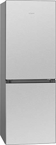Bomann KG 7327.1 Kühl-/Gefrierkombination / 230 Liter Nutzinhalt/Stufenlose Temperaturregelung/Laufrollen/inox