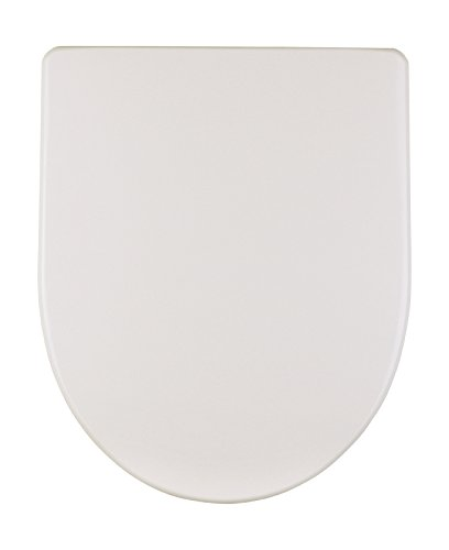 Geberit WC Sitz Renova Plan (Deckel überlappend, Befestigung von oben, Farbe weiß, Duroplast) 573075000