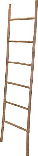Handtuchhalter Kleiderständer Bambus Handtuchleiter Braun Rustikal 190 cm V050