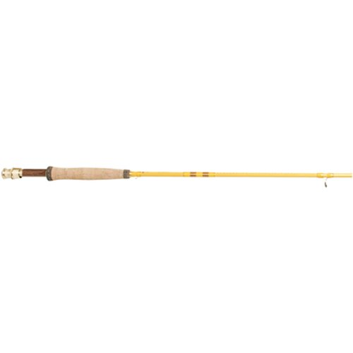 Eagle Claw, Featherlight Fly Rod, Freshwater, 8' Length 2pc, 5-6 lb Line Rate. Medium Power, Yellow (FL300-8)