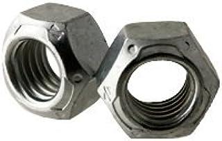 5//8-18 Grade C Yellow Zinc Finish Steel Deformed Thread Lock Nut 25 pk.