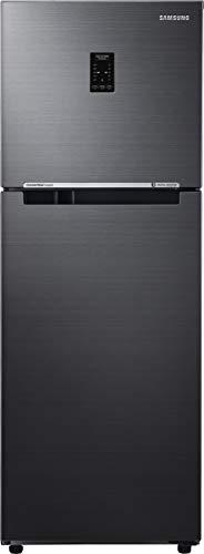 Samsung 253 L 3 Star Inverter Frost-Free Double Door Refrigerator (RT28T3743BS/HL, Black Inox(Black VCM, Convertible)