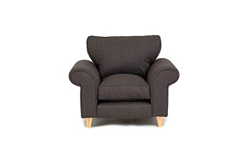 Abakus Direct Angie 3-Sitzer-Sofa, 2-Sitzer-Sofa, Sessel oder Liebessitz, Kuschelstuhl, Dunkelgrau, dunkelgrau, Armchair