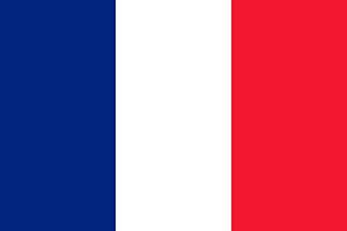 KiipFlag Frankrijk Franse vlag 5ftX3ft Drapeau Frankrijk Drapeau Français - Levendige kleur en UV Fade Resistant - Canvas Header en dubbel gestikt - Frankrijk Nationale vlaggen Polyester met messing Grommets